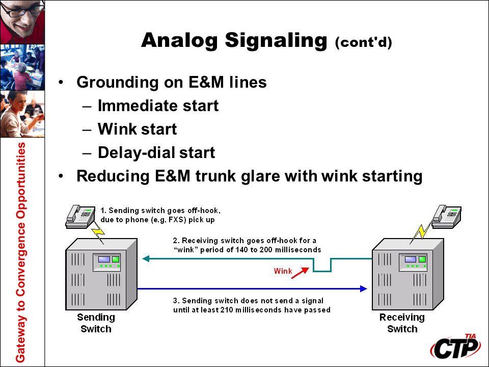 Analog Signaling (cont d)