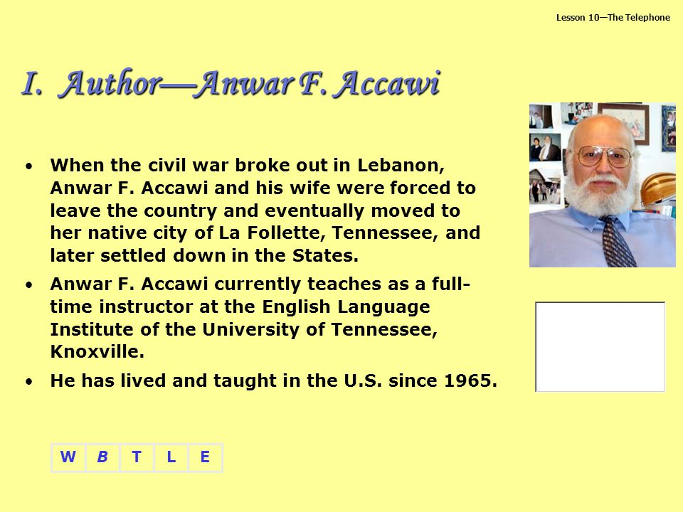 I. Author—Anwar F. Accawi