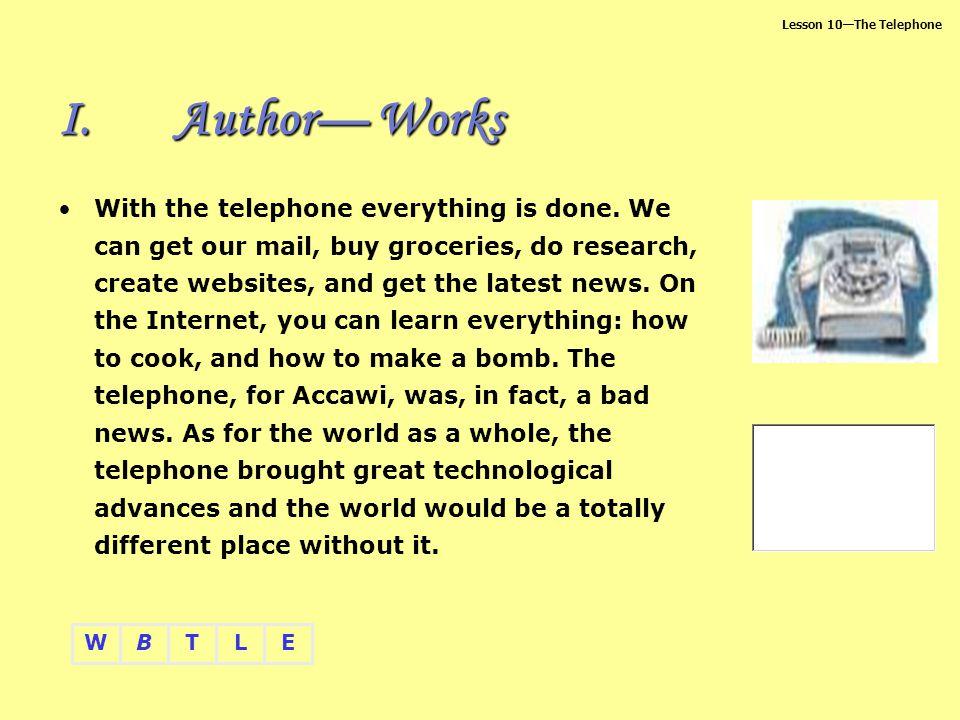 Author— Works