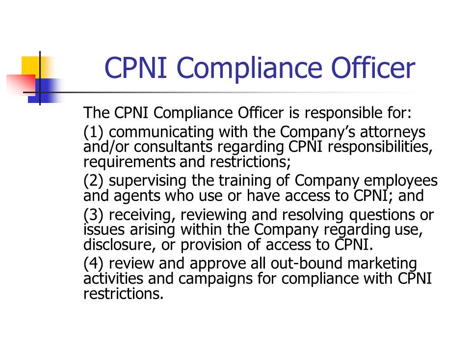 CPNI Compliance Officer