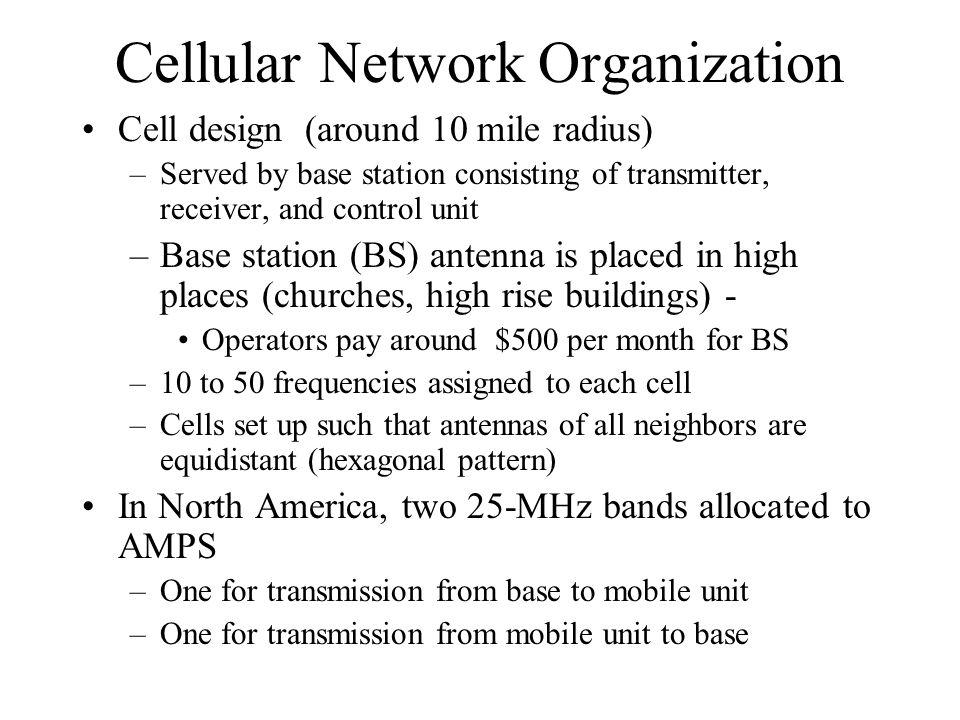 Cellular Network Organization