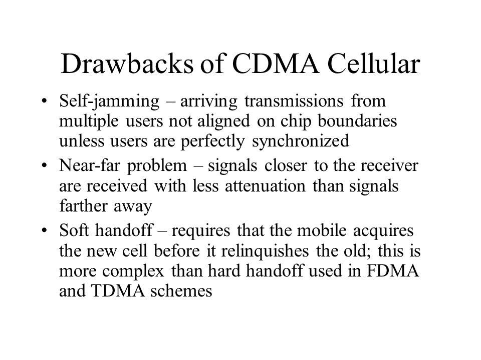 Drawbacks of CDMA Cellular