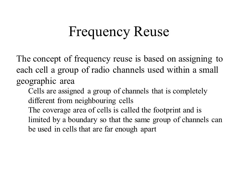 Principles of cellular frequency reuse