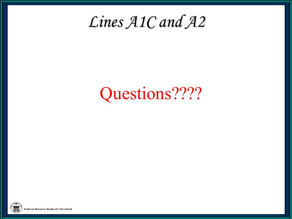 Lines A1C and A2 Questions