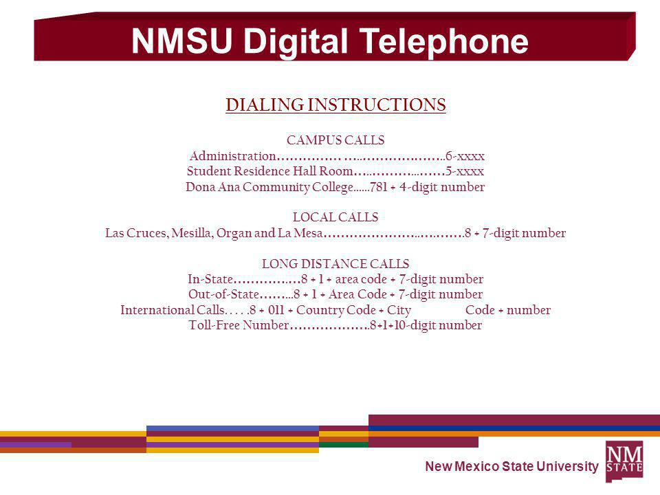 NMSU Digital Telephone