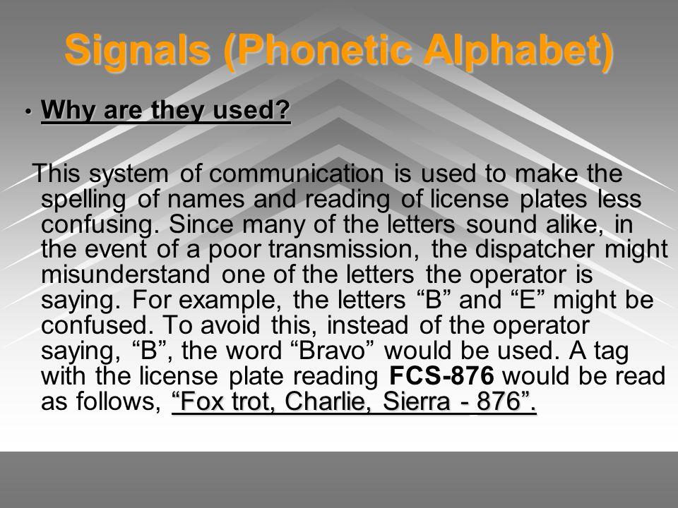 Signals (Phonetic Alphabet)