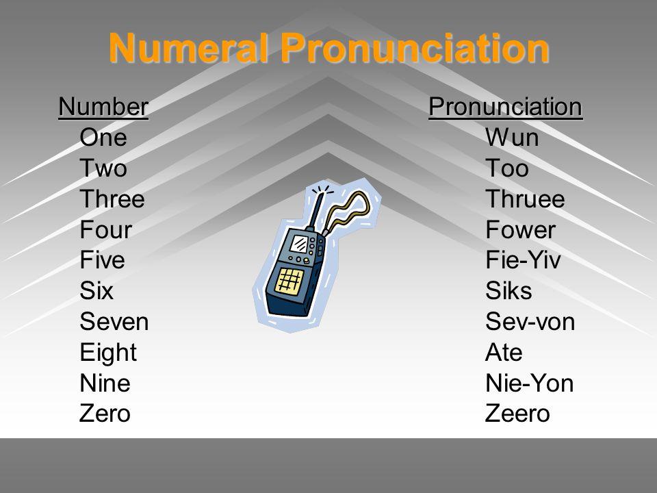 Numeral Pronunciation