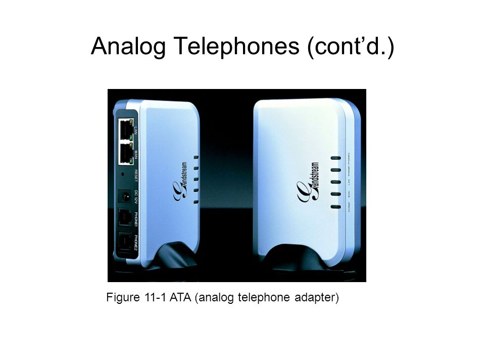 Analog Telephones (cont'd.)
