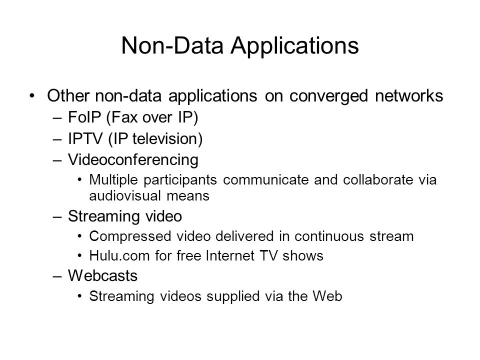 Non-Data Applications