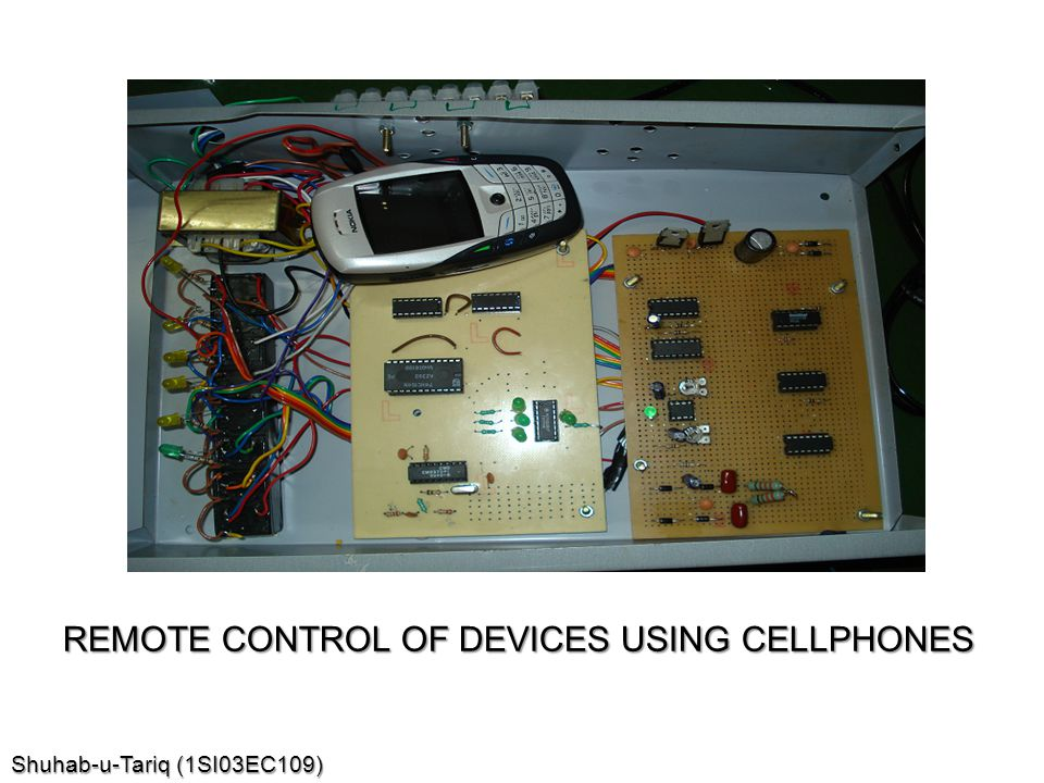REMOTE CONTROL OF DEVICES USING CELLPHONES
