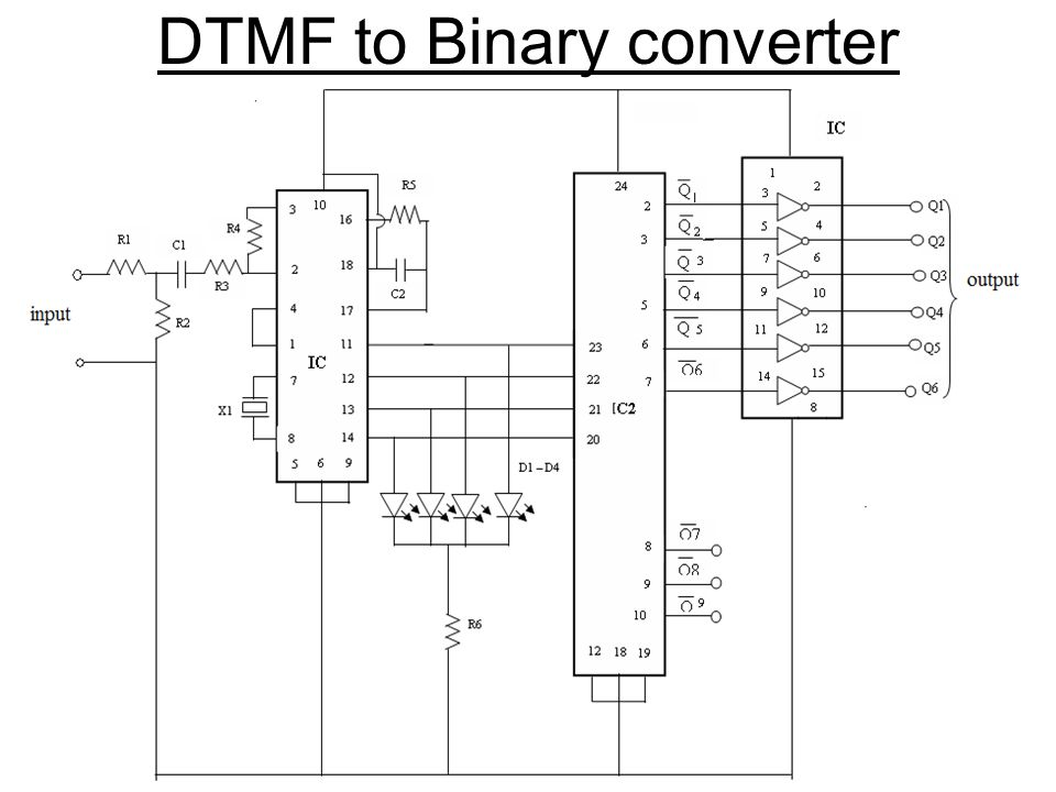 DTMF to Binary converter