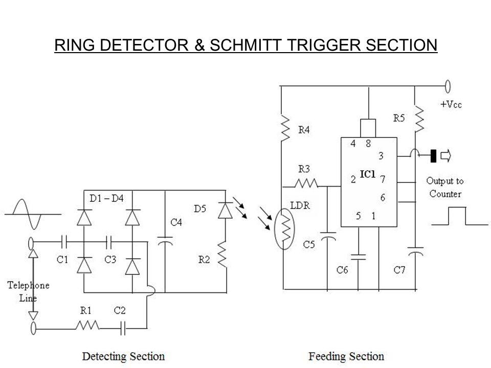 RING DETECTOR & SCHMITT TRIGGER SECTION