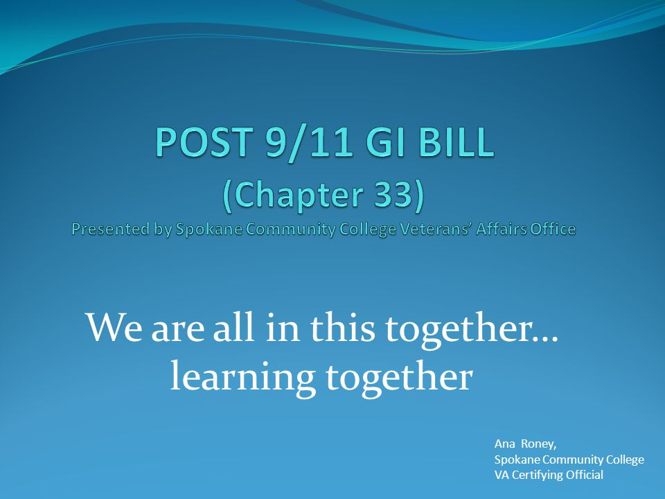 We are all in this together… learning together