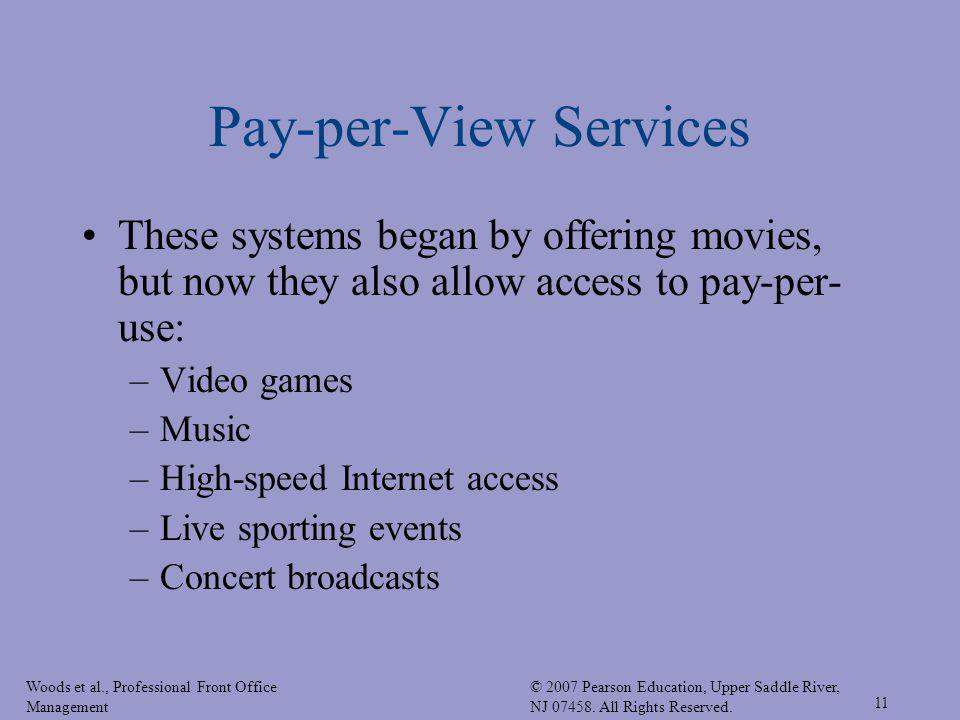Pay-per-View Services