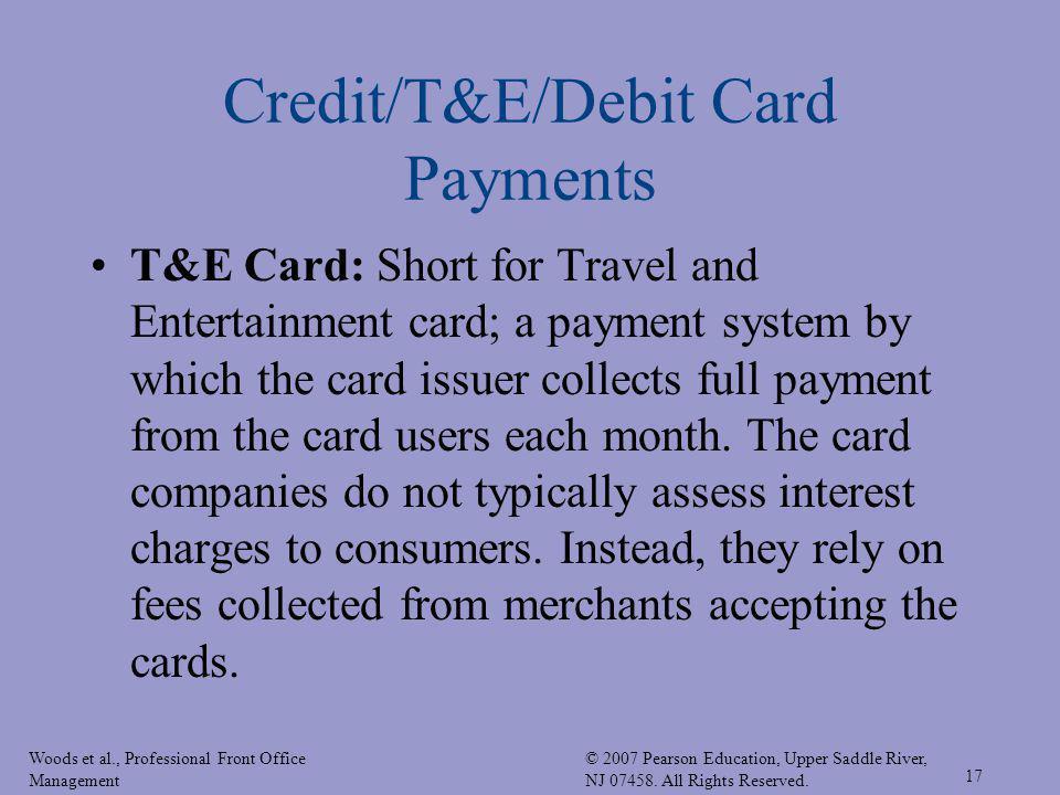 Credit/T&E/Debit Card Payments