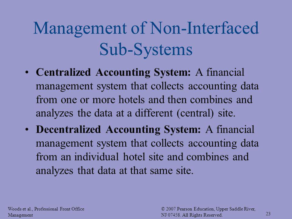 Management of Non-Interfaced Sub-Systems