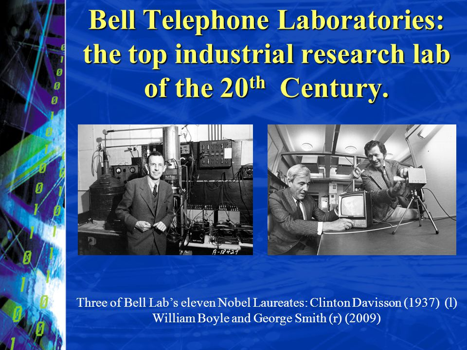 Bell Telephone Laboratories: the top industrial research lab of the 20th Century.