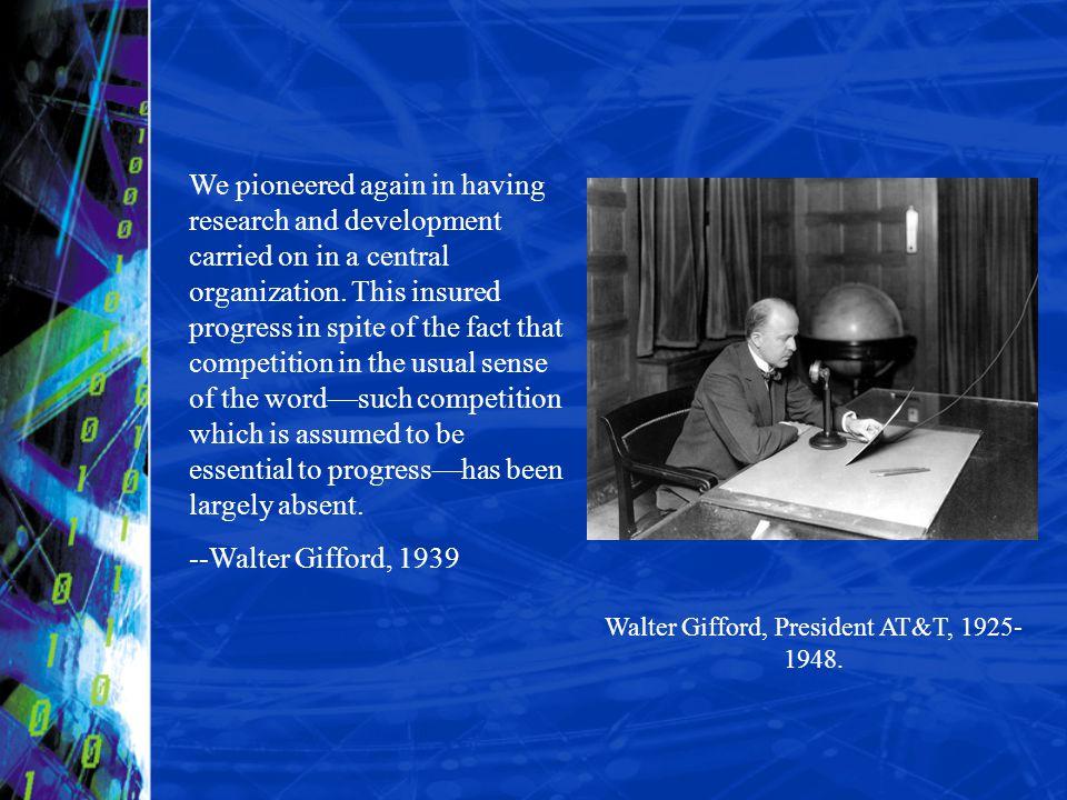 Walter Gifford, President AT&T, 1925-1948.