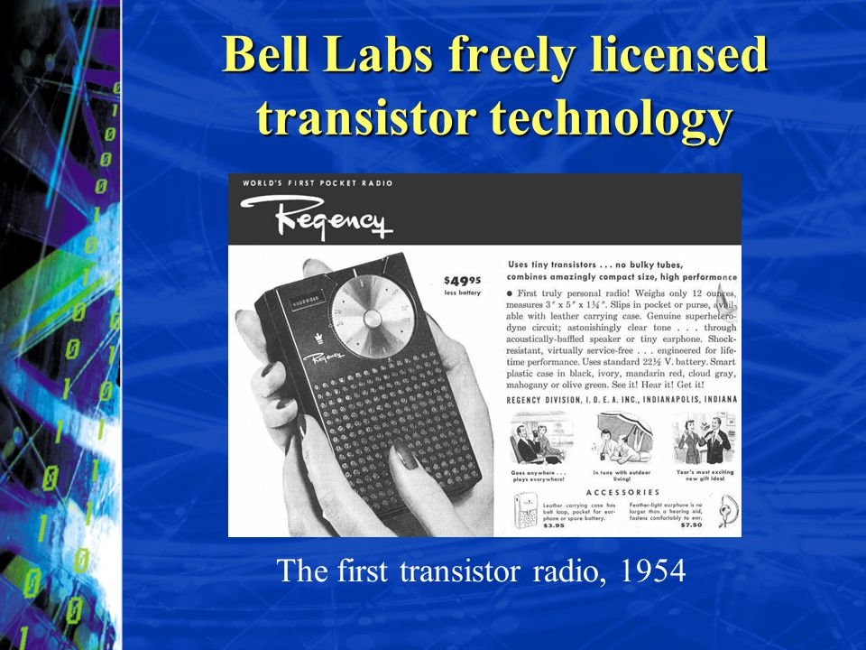 Bell Labs freely licensed transistor technology