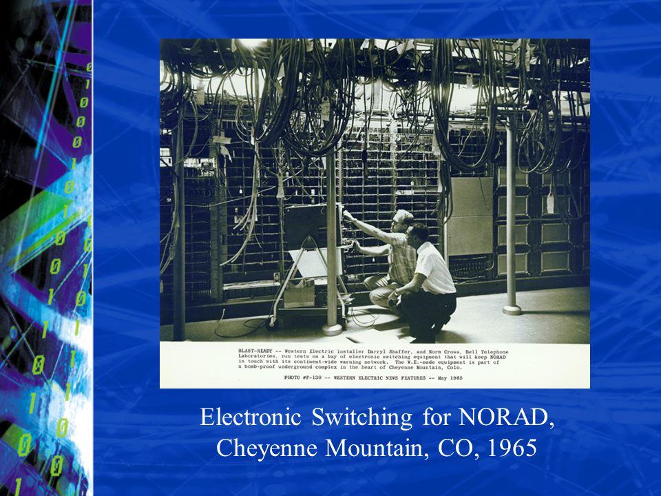 Electronic Switching for NORAD, Cheyenne Mountain, CO, 1965