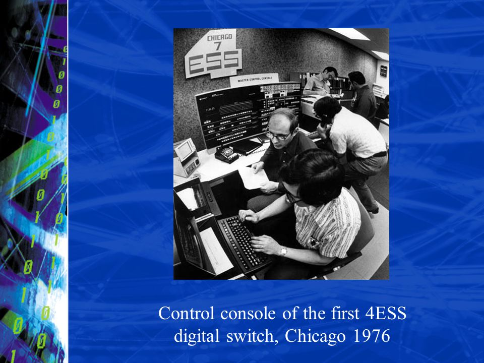 Control console of the first 4ESS digital switch, Chicago 1976