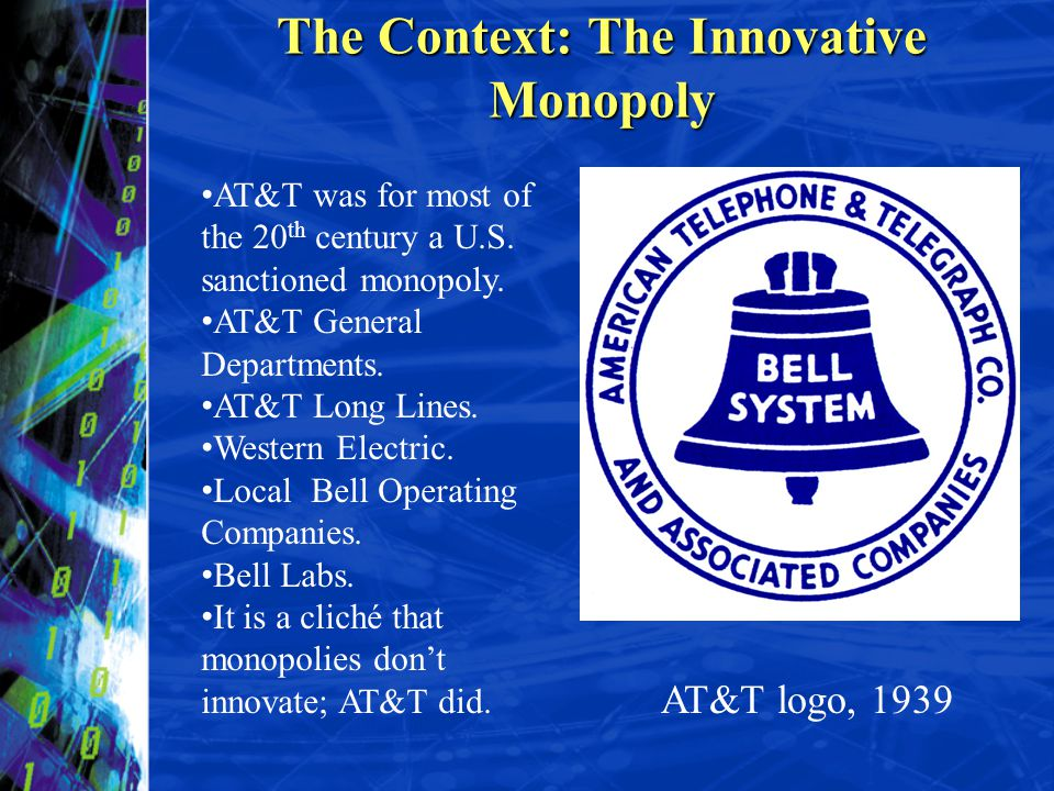 The Context: The Innovative Monopoly
