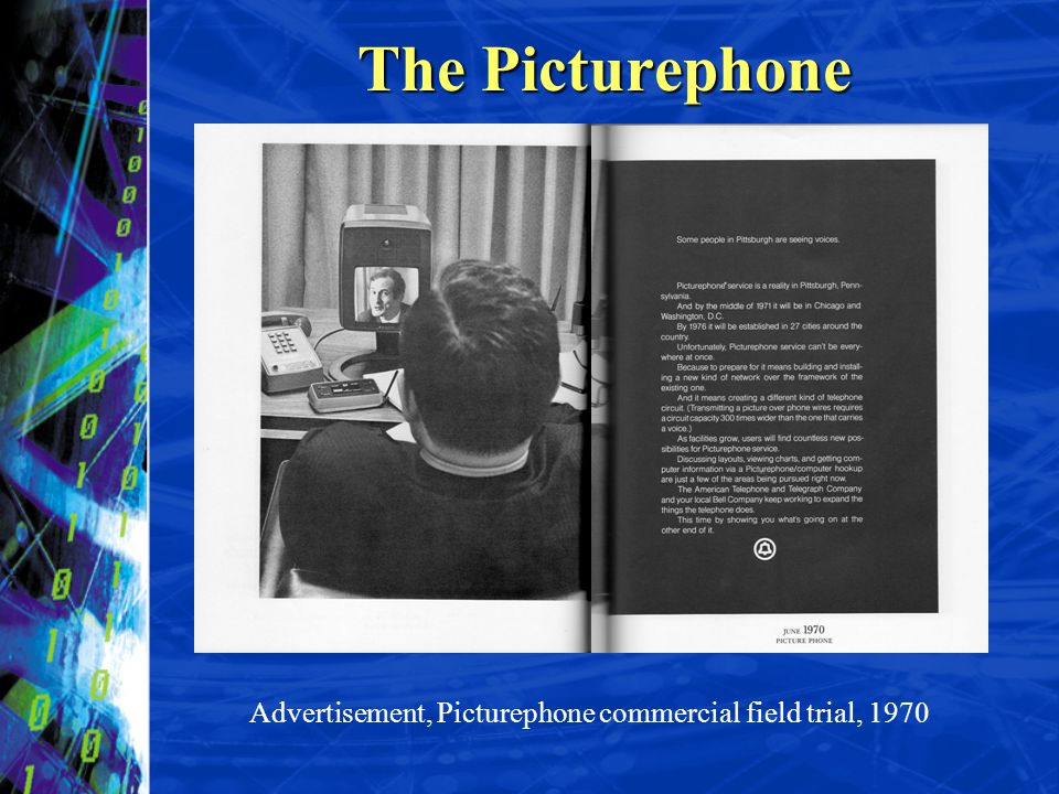 The Picturephone Advertisement, Picturephone commercial field trial, 1970