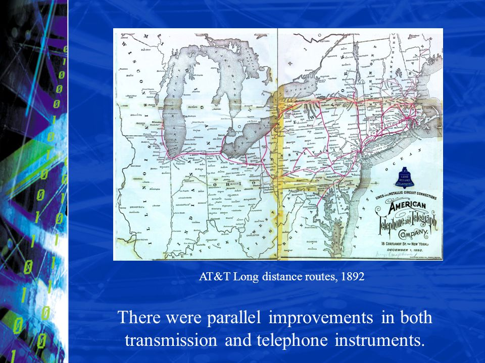 AT&T Long distance routes, 1892