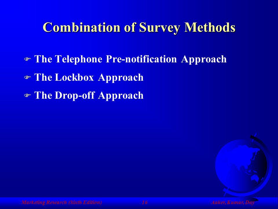 Combination of Survey Methods