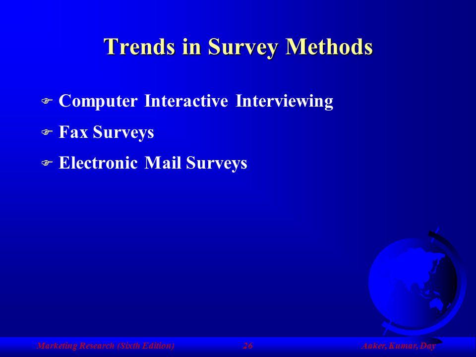 Trends in Survey Methods