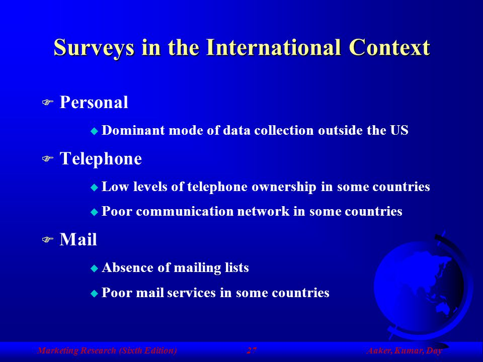 Surveys in the International Context