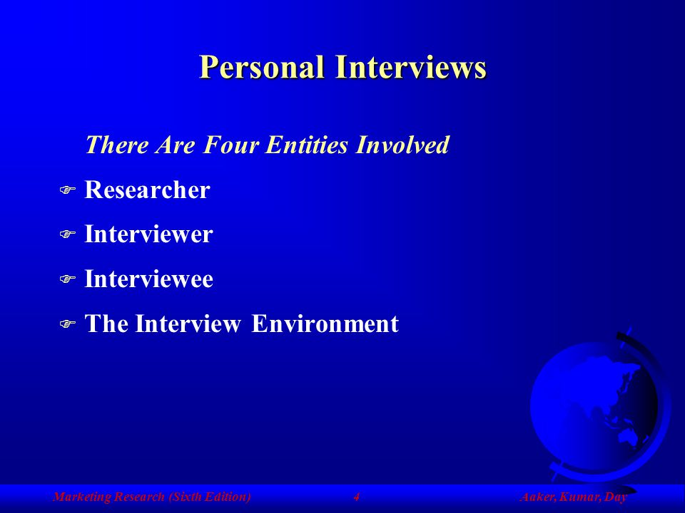 Personal Interviews There Are Four Entities Involved Researcher
