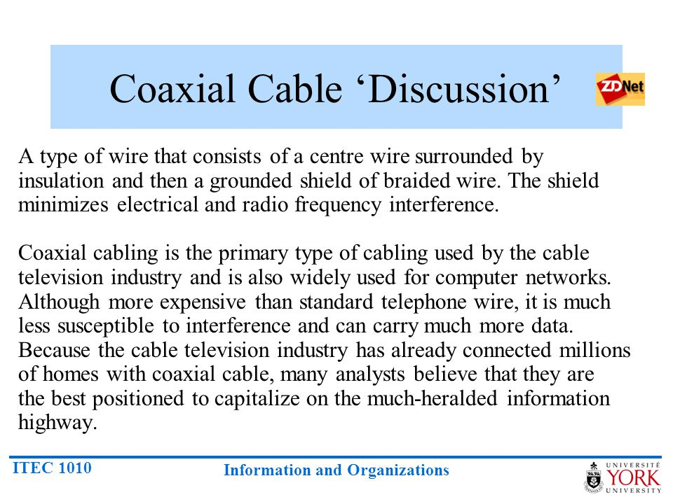 Coaxial Cable 'Discussion'