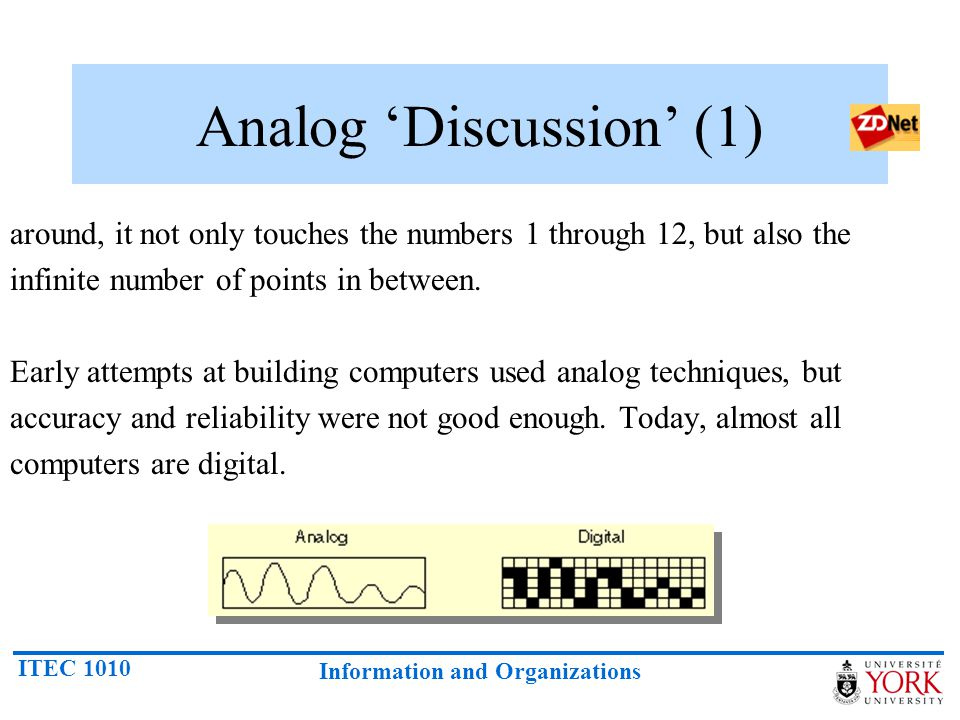 Analog 'Discussion' (1)