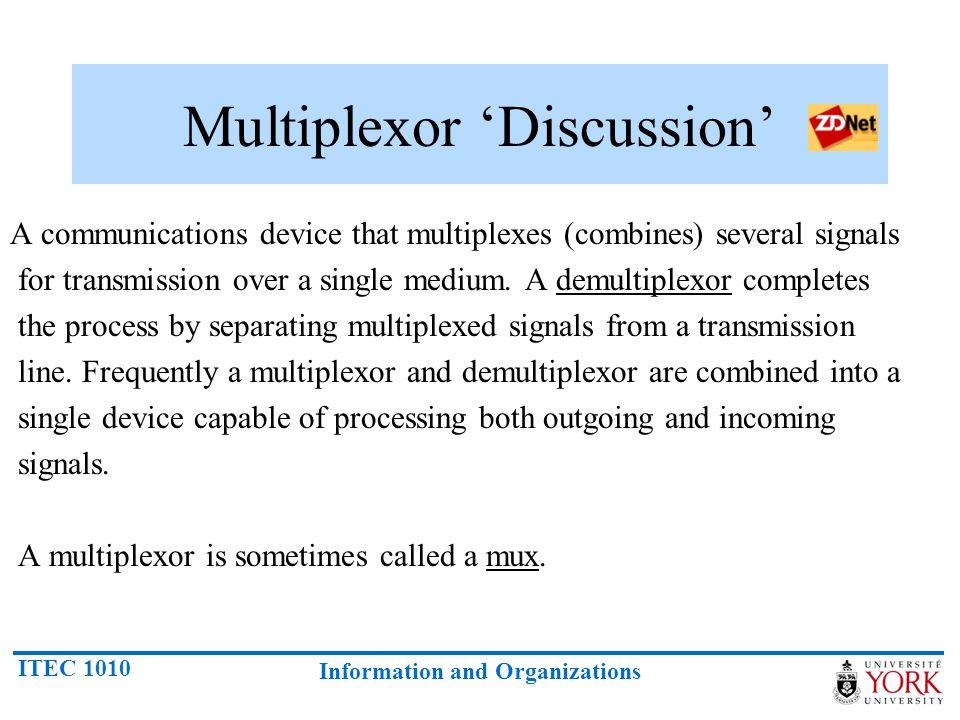 Multiplexor 'Discussion'