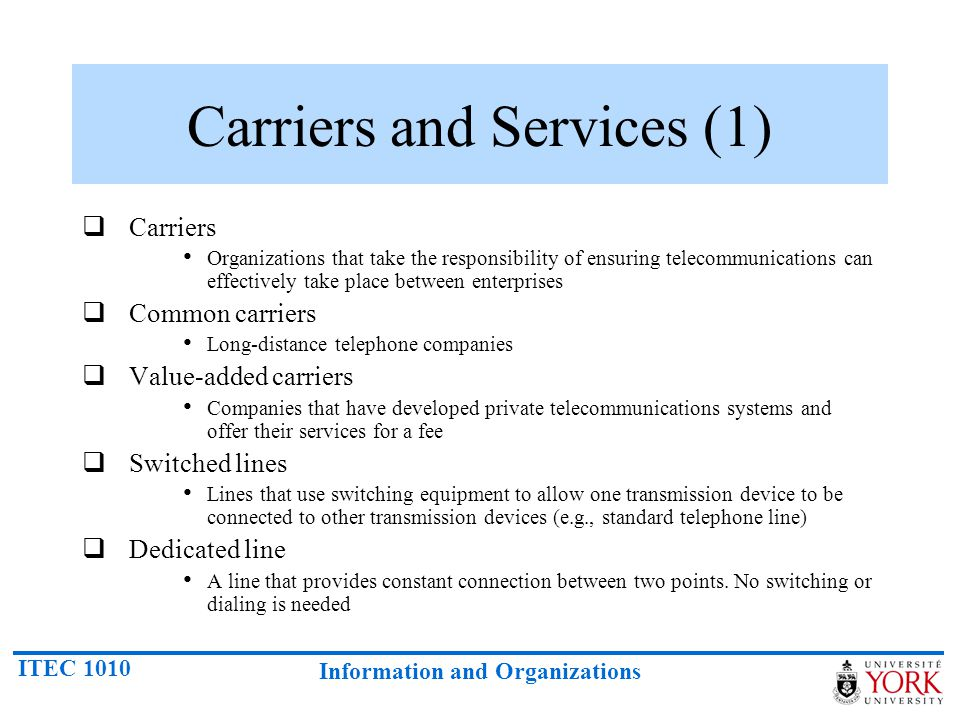 Carriers and Services (1)