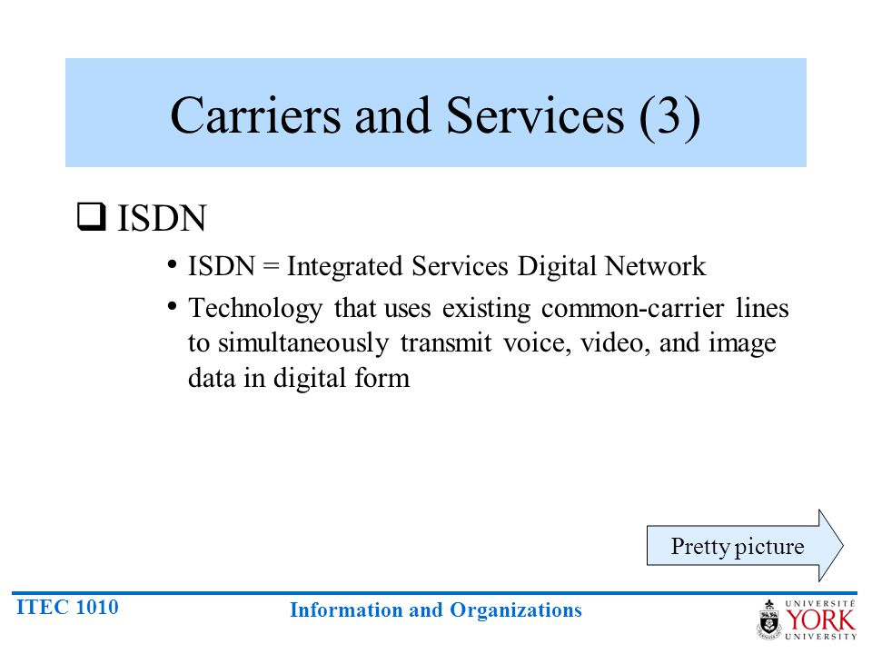 Carriers and Services (3)