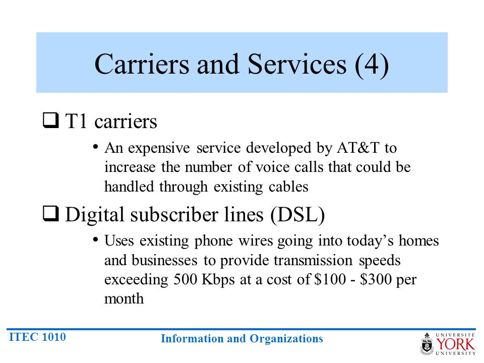 Carriers and Services (4)