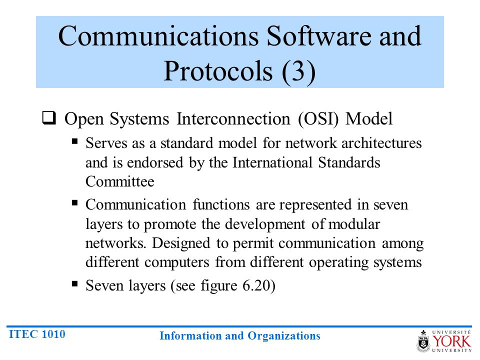 Communications Software and Protocols (3)