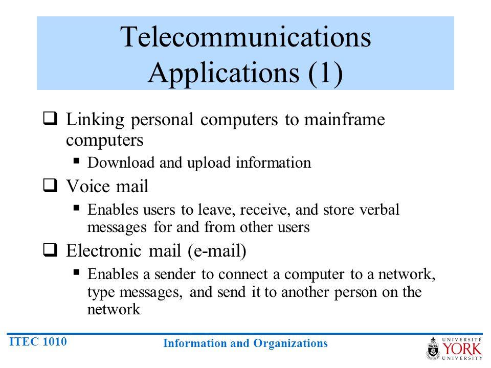 Telecommunications Applications (1)