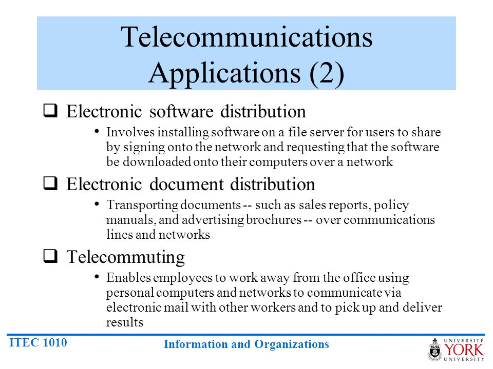 Telecommunications Applications (2)