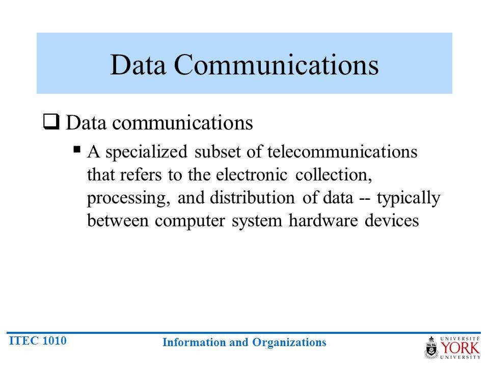 Data Communications Data communications