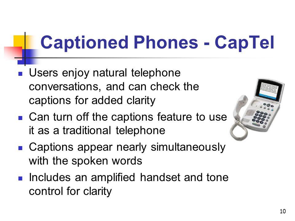 Captioned Phones - CapTel