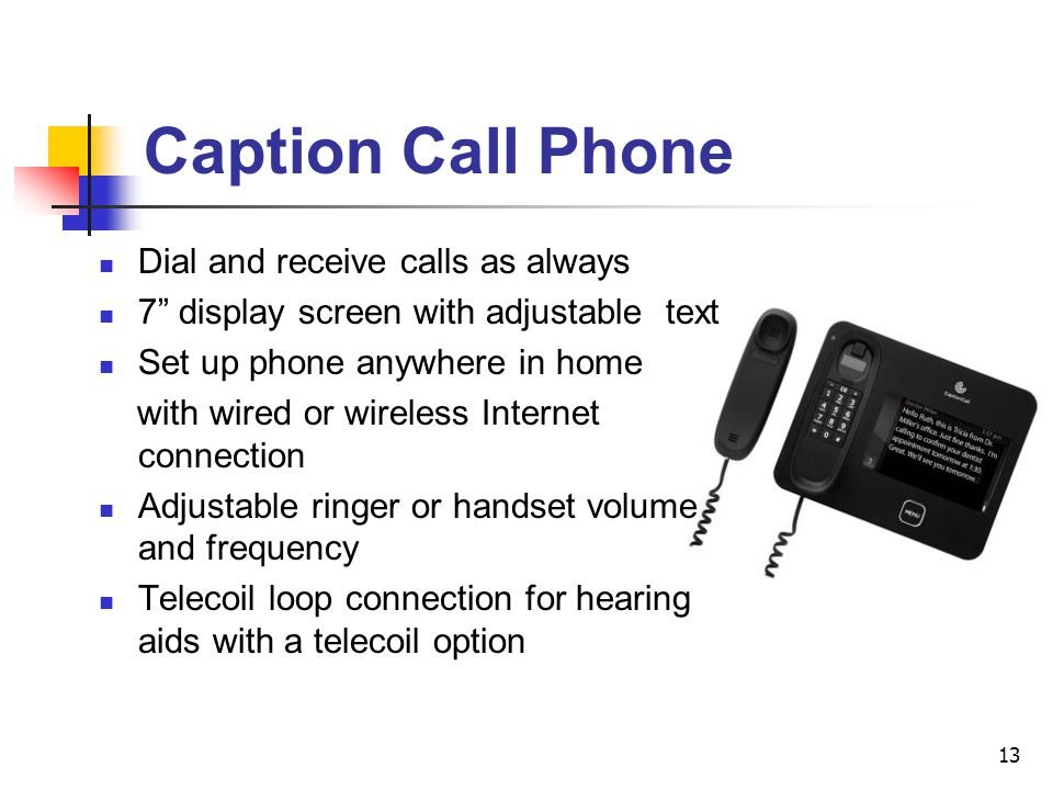 Caption+Call+Phone+Dial+and+receive+calls+as+always telephone options for people with hearing loss ppt video online  at honlapkeszites.co