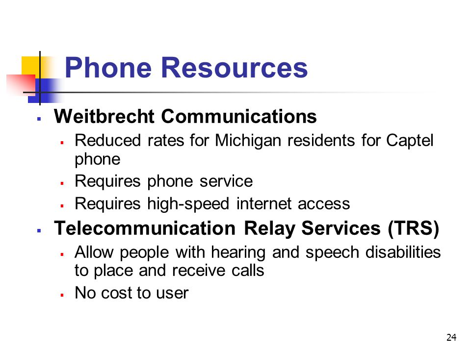 Phone Resources Weitbrecht Communications
