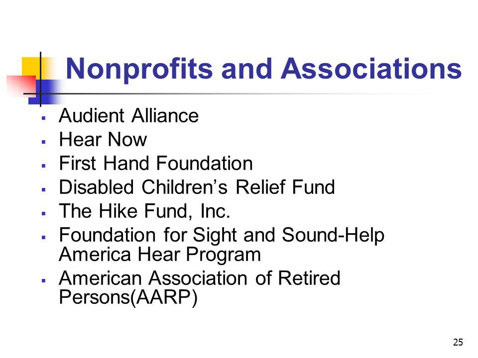 Nonprofits and Associations