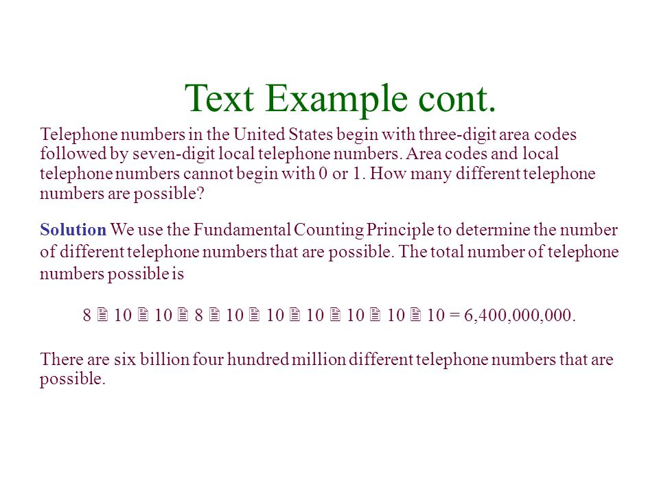 Text Example cont.