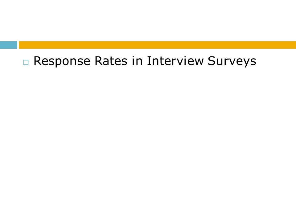 Response Rates in Interview Surveys