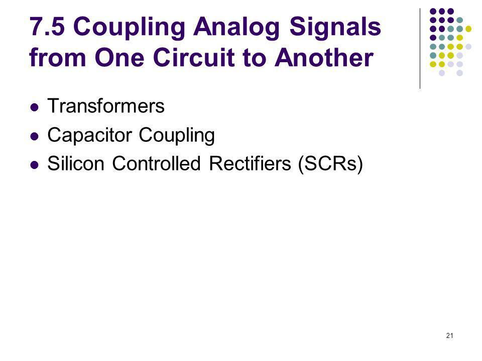 7.5 Coupling Analog Signals from One Circuit to Another