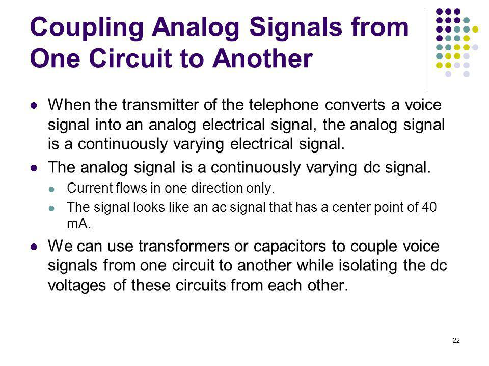 Coupling Analog Signals from One Circuit to Another